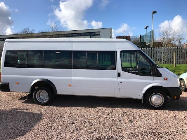 17 seater minibus in car park