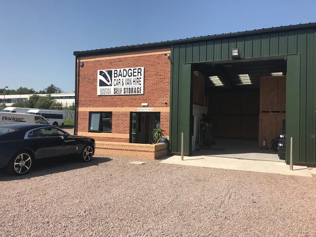 badger car and van hire self storage facility
