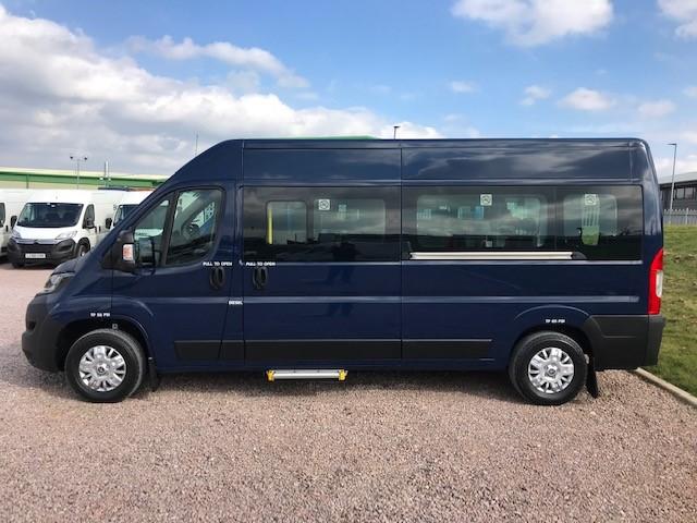 Large Blue Minibus